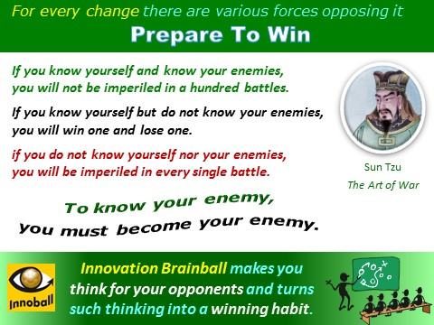 Leadership - prepare to win, Zun Tzu, Innoball